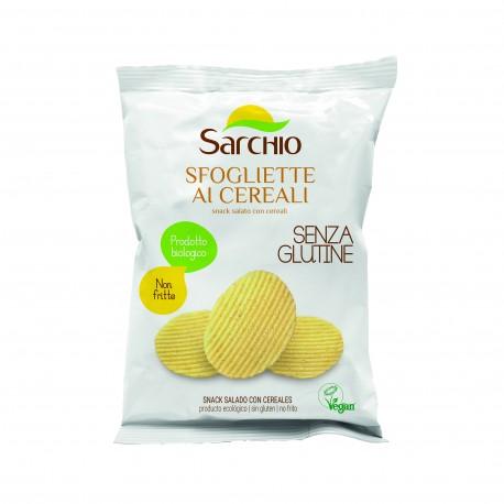 """Snack sarat cu cereale, fara gluten, BIO ECO 55g - Sarchio """"Sfogliette ai cereali"""" - Deco Italia"""