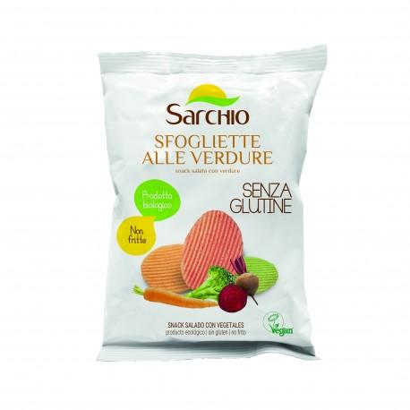 "Snack sarat cu legume, fara gluten, BIO ECO 55 g - Sarchio ""Sfogliette ale verdure"""