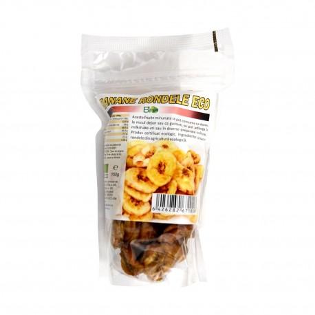 Banane rondele uscate deshidratate bio eco 150g