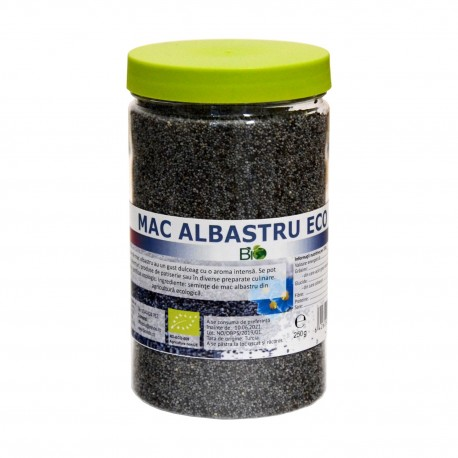 Seminte de mac albastru bio eco 250g - Deco Italia