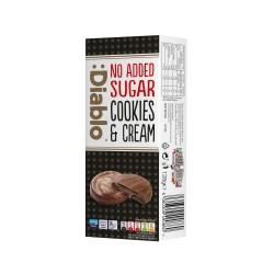 Biscuiti bruni cu crema brownie Diablo, acoperiti cu ciocolata neagra, fara zahar, 128g