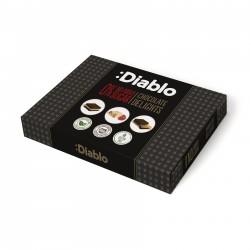 Cutie cu 3 sortimente de ciocolata Diablo, fara zahar, cu stevia, 115g