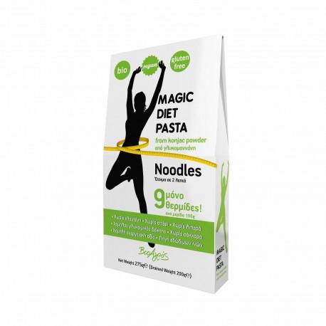 Taitei dietetici din konjac fara gluten Bio Eco, Magic Diet Pasta Noodles BioAgros, 275g - Deco Italia