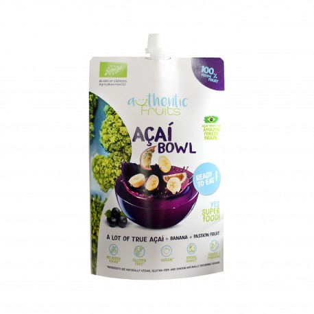 Pireu din fructe fara gluten, fara zahar, Acai Bowl Eco Bio 250g - Deco Italia