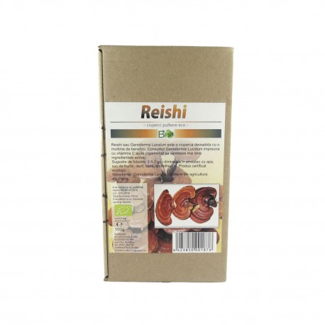 Ciuperci Reishi (Ganoderma Lucidum) pudra, pulbere BIO, 100 g - Deco Italia