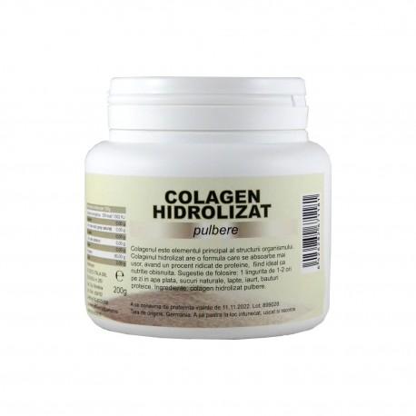 Colagen hidrolizat pulbere, pudra, 200 g