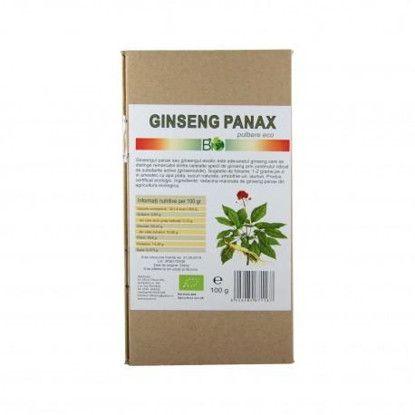 Ginseng panax pulbere, BIO 100g - Deco Italia