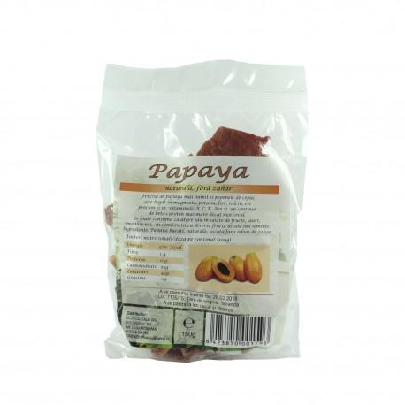Papaya bucati, uscate, deshidratate, fara zahar - Deco Italia