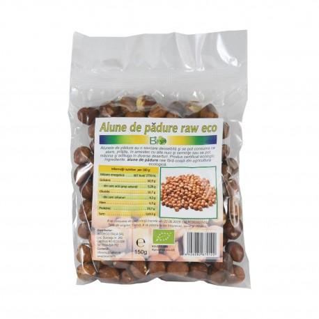 Alune de padure crude raw bio, 150 g