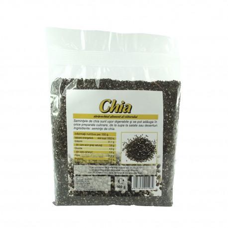 Seminte de chia crude, raw, 500 g