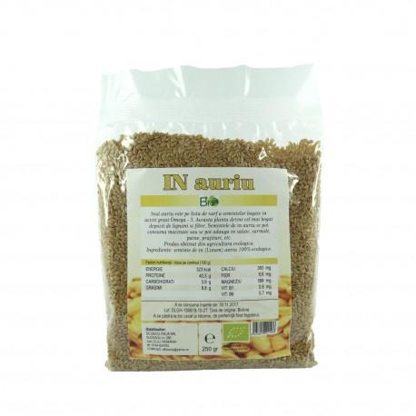 Seminte de in auriu BIO, 250 g