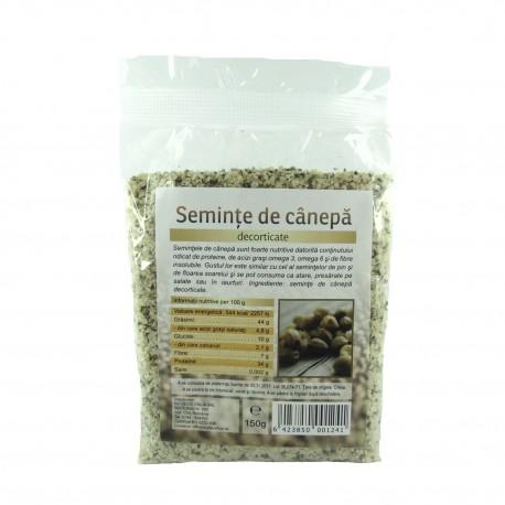 Seminte de canepa decorticate 150 g - Deco Italia