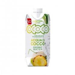 Apa de cocos cu suc de ananas - bio 330 ml