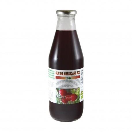 Suc de merisoare, fara zahar, indulcit natural, ECO BIO 750ml