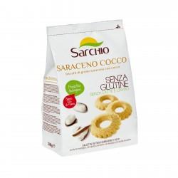 Biscuiti BIO fara gluten, cu hrisca si cocos, 200g - Sarchio