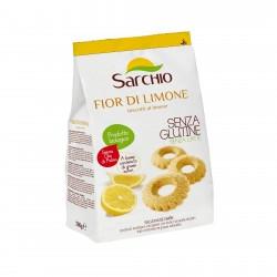 Biscuiti BIO fara gluten, cu lamaie, 200g - Sarchio