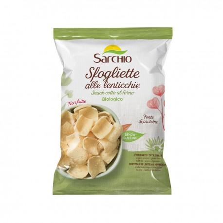 Snack fara gluten, BIO, pe baza de linte, copt la cuptor, 50g - Sarchio - Deco Italia