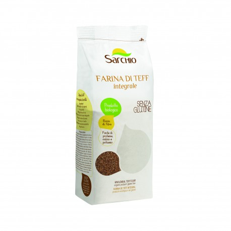 Faina de teff integrala fara gluten, calciu, potasiu, proteine si fibre, BIO, ECO 350 g - Sarchio